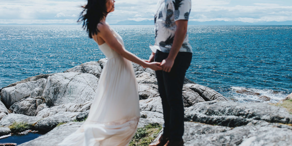 Lighthouse Park West Vancouver Engagement - Joshua & Roxanne