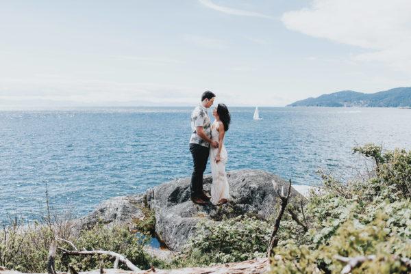 Lighthouse Park West Vancouver Engagement - Joshua & Roxanne