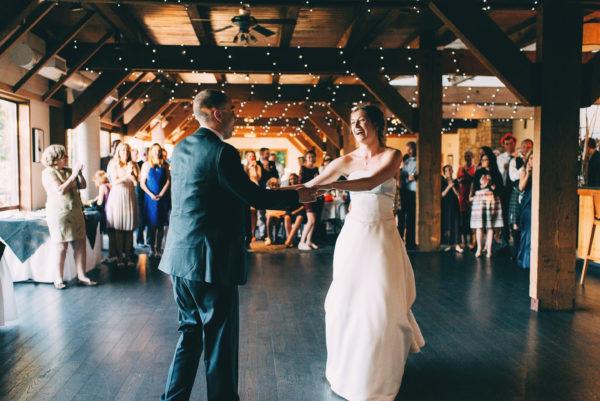 First dance at SFU Diamond Alumni Centre Wedding